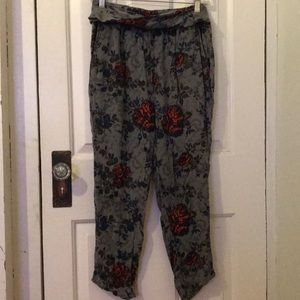 Free People - gauze pattern harem pants